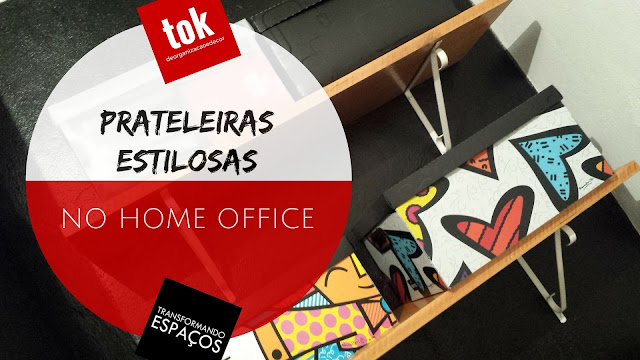 Prateleiras estilosas no home office