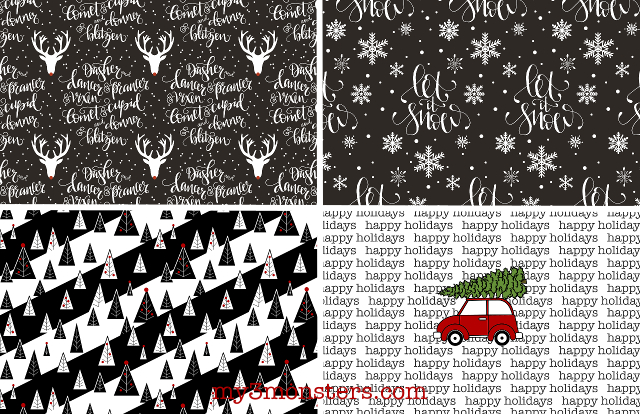 graphic relating to Free Printable Wrapping Paper titled My 3 Monsters: Printable Wrapping Paper Sheets and Tags