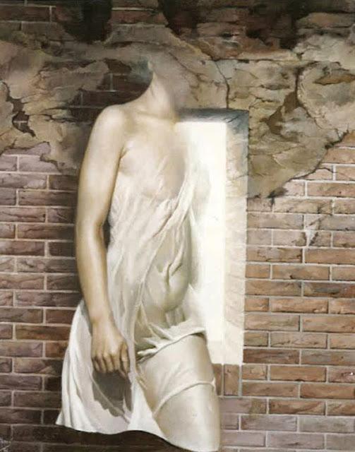 José Marí pintura surrealista arte figura muro