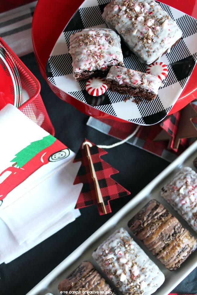 buffalo plaid, christmas garland, peppermint mocha bread, christmas truck