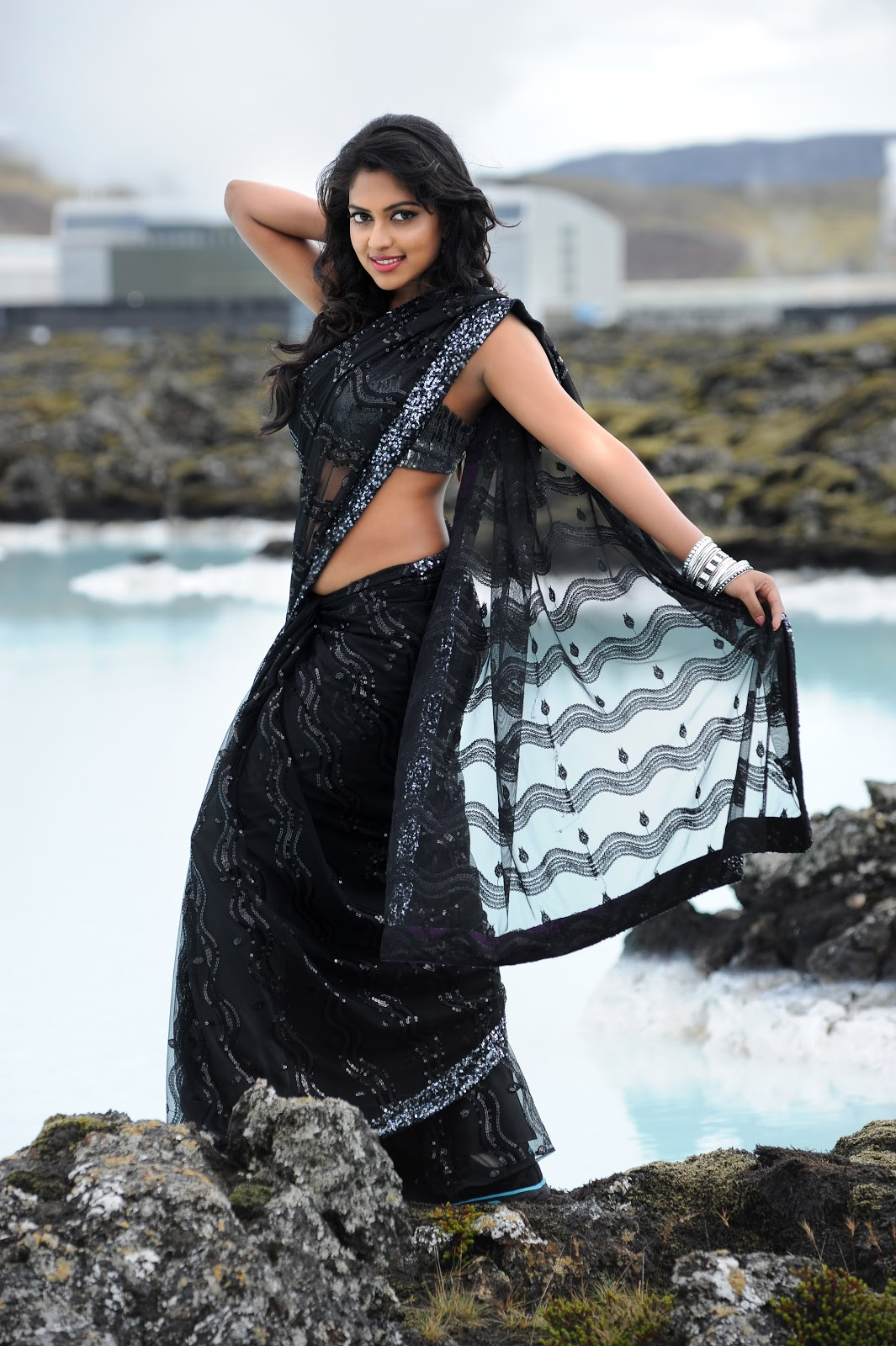 Amala paul in various saree