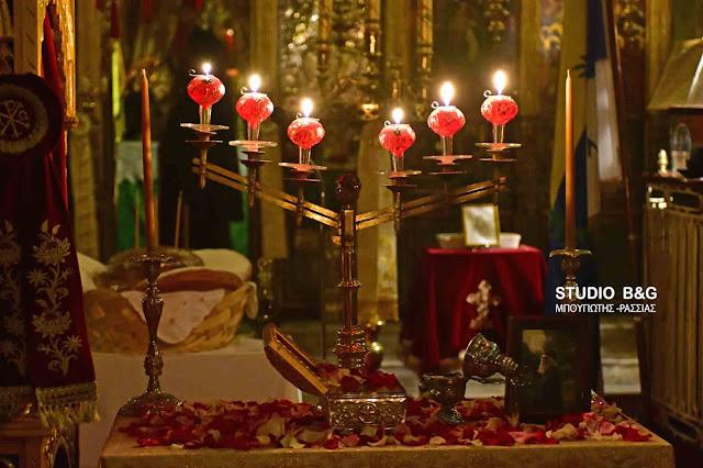 Την μνήμη του Αγίου Αρσενίου τίμησαν με αγρυπνία στον ιστορικό ναό της Παναγίας στο Ναύπλιο