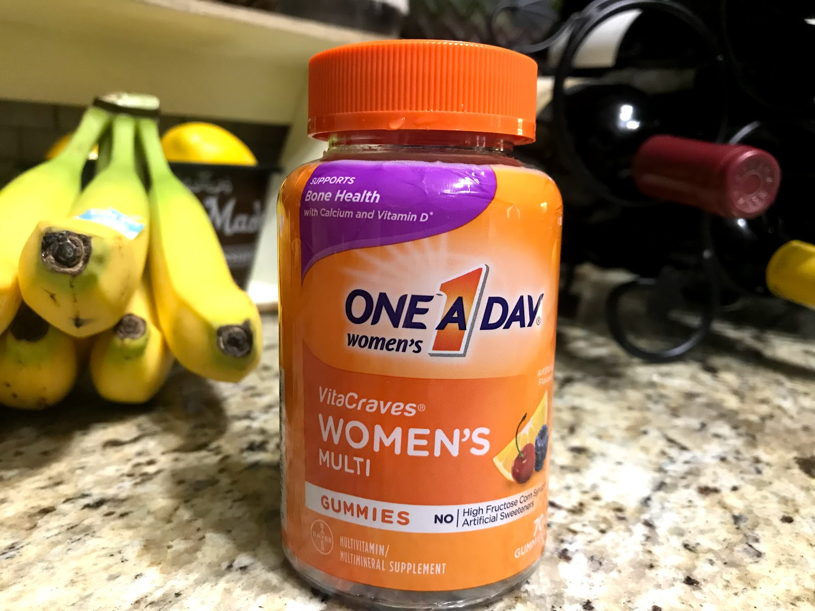 "One A Day Vitamins. Woman sharing her women""s gummies in weekend bits and favorites. Haul"