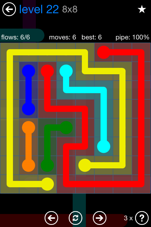 Flow Free Bonus 8x8 Level 20