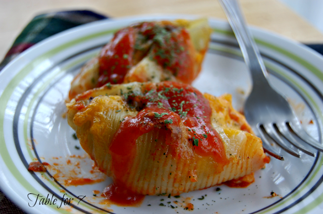 Mexican Stuffed Shells from Table for Seven