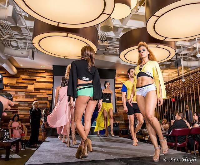 Daisi Jo Pollard Sepulveda walking in the Kiss The Monkeys 2018 Fashion Show