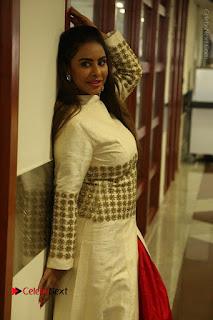 Telugu Actress Sri Reddy Mallidi Stills in White Beautiful Dress at Marriage Needs Bridal Fashion Week 2017 Logo Launch  0017.JPG