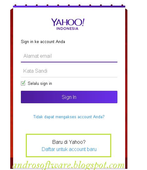 Langkah Kedua Cara Membuat Email Yahoo