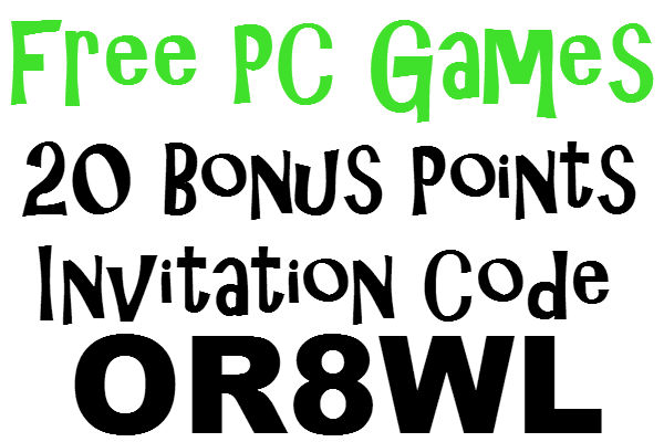 FPG App Invitation Code, 20 Bonus Points Free PC Games Sign Up Bonus 2016-2017