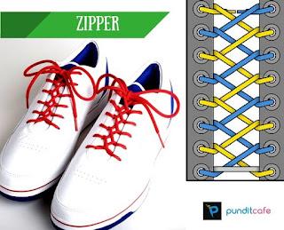 Cara Mengikat Tali Sepatu Menyilang di dalam (Zipper)