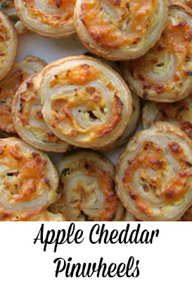 The classic flavor combination of cheddar and apples come together in these delicious pinwheel appetizers.