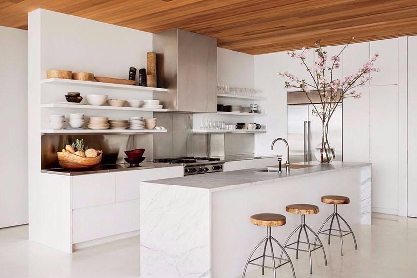 Minimalist Kitchen Accents Wooden Model