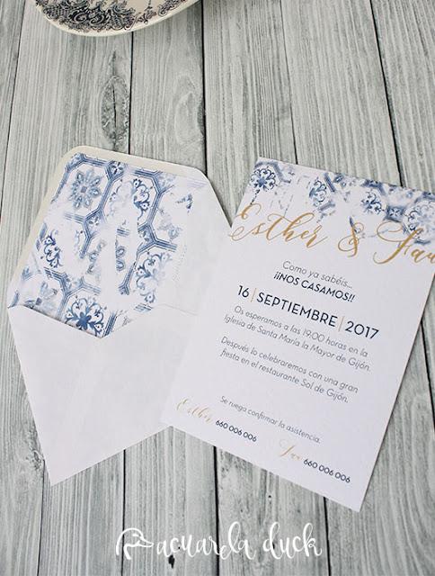 Invitación boda lisboa