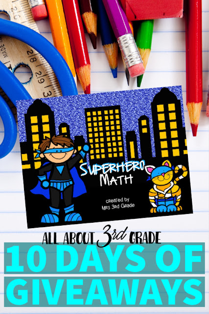Superhero day is one of my students' favorite days of the year!  This math packet is a great resource to use to have your students become superheroes!
