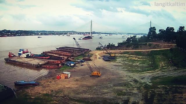 Foto Udara Daerah Mangkupalas Samarinda