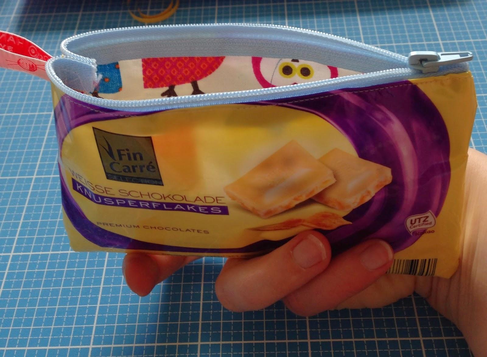 kramtasche aus schokoladenpapier