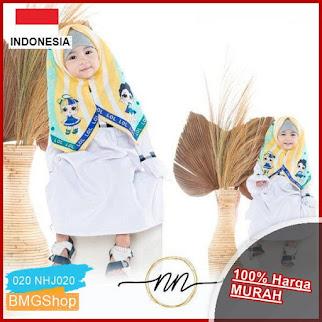 NHJ020 Kerudung Anak Motif Instan Jilbab BMGShop