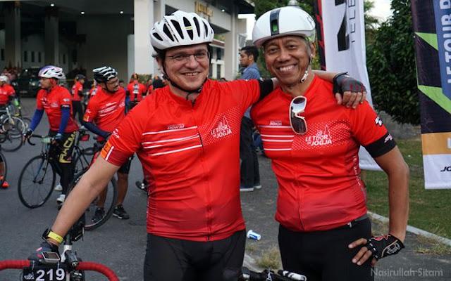 Peserta manca ikut meramaiakan acara Le Tour De Jogja