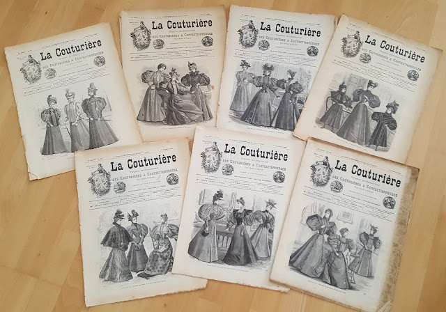 vintage sewing pattern magazine schnittmuster retro cut sewing pattern la couturiere 1890s