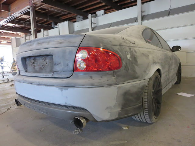 Tail end of Pontiac GTO/Holden Monaro during the paint and bodywork process