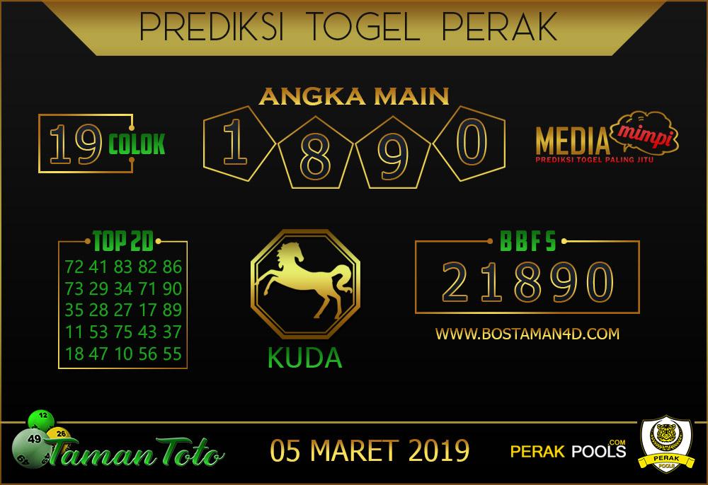 Prediksi Togel PERAK TAMAN TOTO 05 MARET 2019