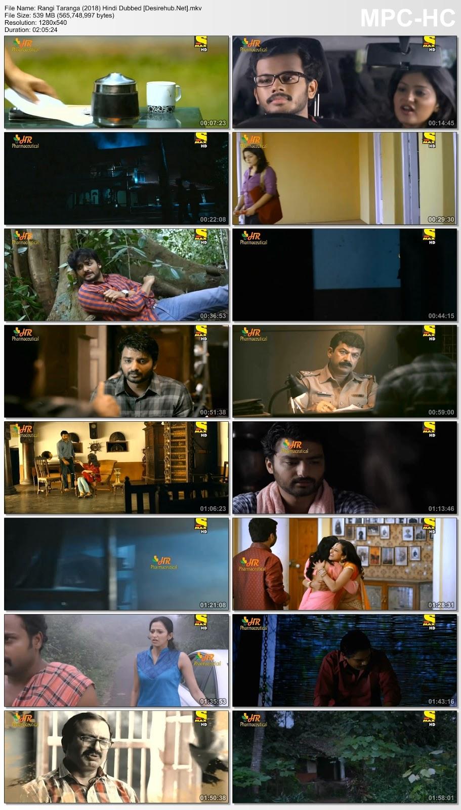 Rangi Taranga (2018) Hindi Dubbed 720p HDTVRip – 550MB Desirehub
