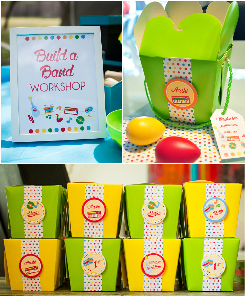 Baby Jam: A Music Inspired 1st Birthday Party Favors - via BirdsParty.com