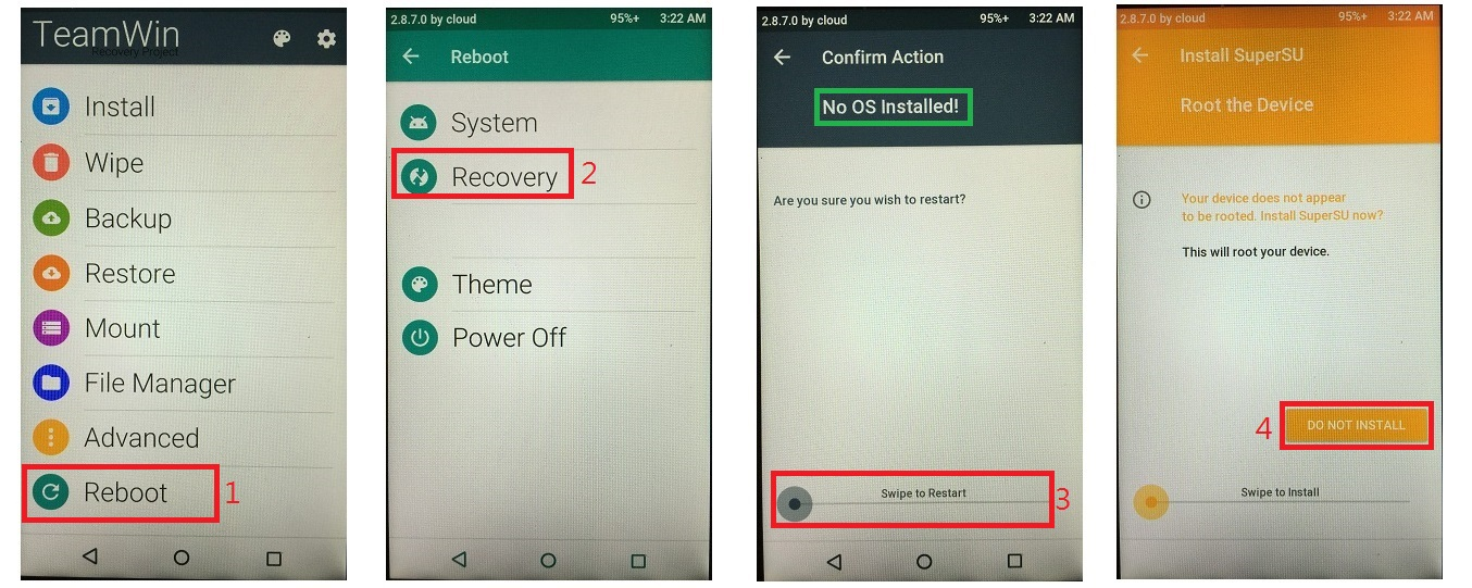 Partisi 2GB System 6GB Data Masuk TWRP/Recovery instal re-partisi nya ...