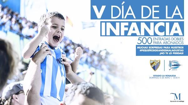 El Club celebrará el V Día de la Infancia en el Málaga-Alavés