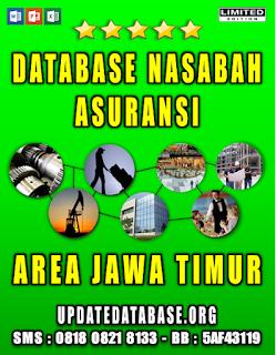 Jual Database Nasabah Asuransi Jawa Timur