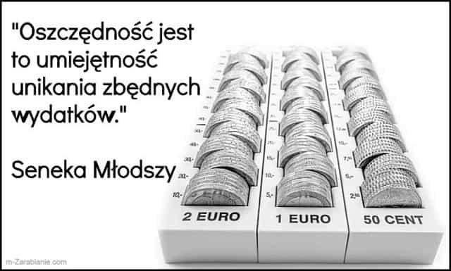 Seneka Młodszy, cytaty o oszczędzaniu.