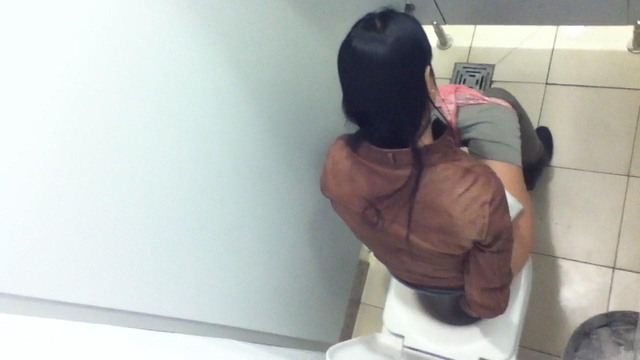 Risky risky public bathroom organs hard nutt