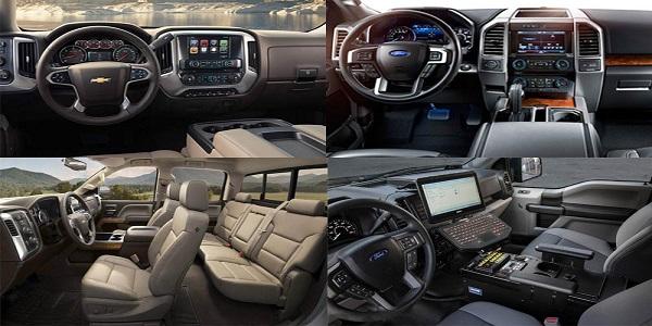 2016 Chevy Silverado Vs. 2016 Ford F-150 Interior