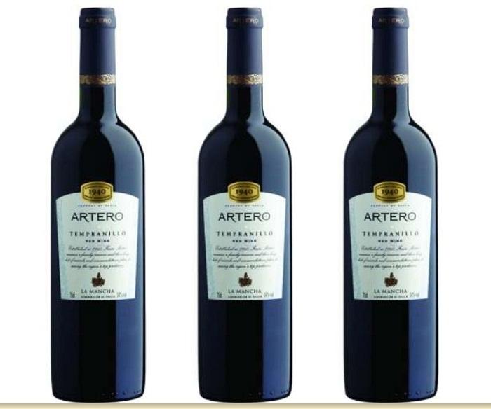Rượu vang Artero Tempranillo xuất xứ Tây Ban Nha