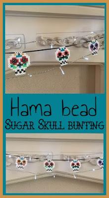 Hama bead sugar skull bunting tutorial