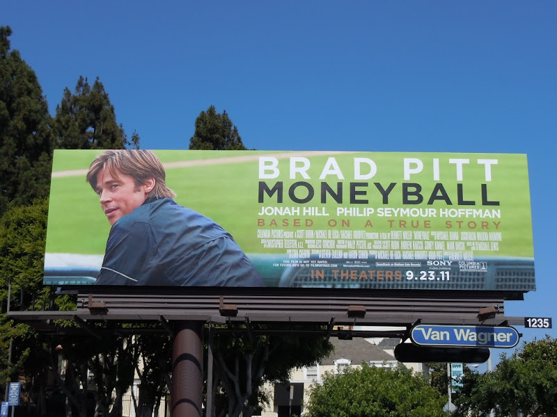 Brad Pitt Moneyball billboard