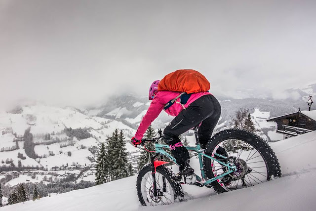 Mountainbike Touren im Schnee, petra zeller