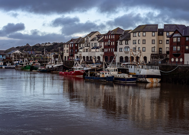 Phot of fishing boats in Maryport Harbour