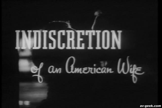 Indiscretion of an American Wife 1953 movieloversreviews.filminspector.com Title card
