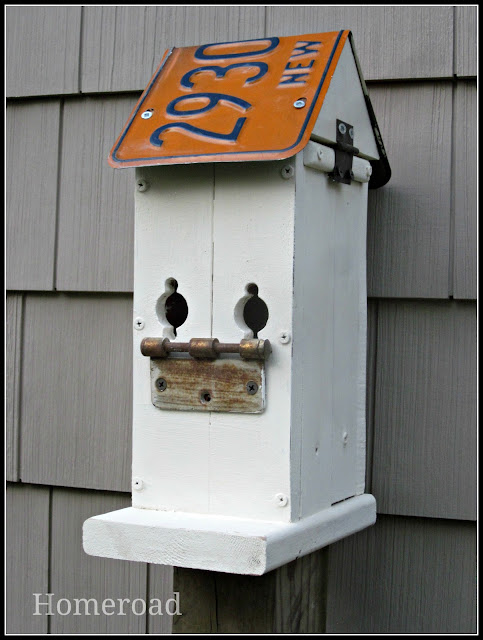 Make a Birdhouse with directions to build your own using reclaimed wood.
