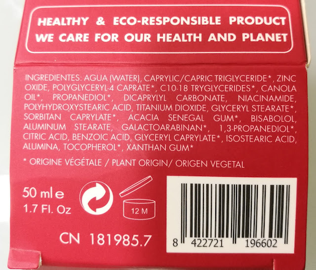 Ingredientes Crema Hidratante Antiedad de Go Organic