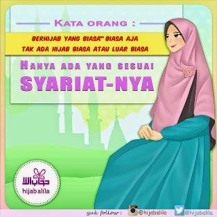 Gambar DP BBM jilbab hijab sesuai syar'i