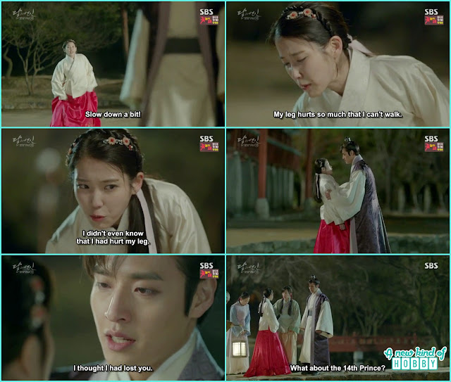 8th prince confess to hae soo how scared he was that he will never able to see her again - Moon Lovers: Scarlet Heart Ryeo - Episode 4 Review