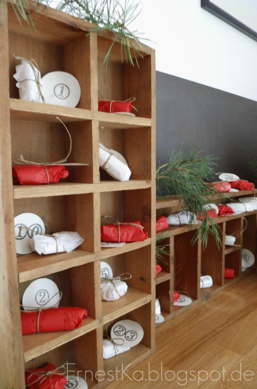 ernestka teetanne und marzipanp ckchen zwei sch ne diy adventskalender f r gro e. Black Bedroom Furniture Sets. Home Design Ideas