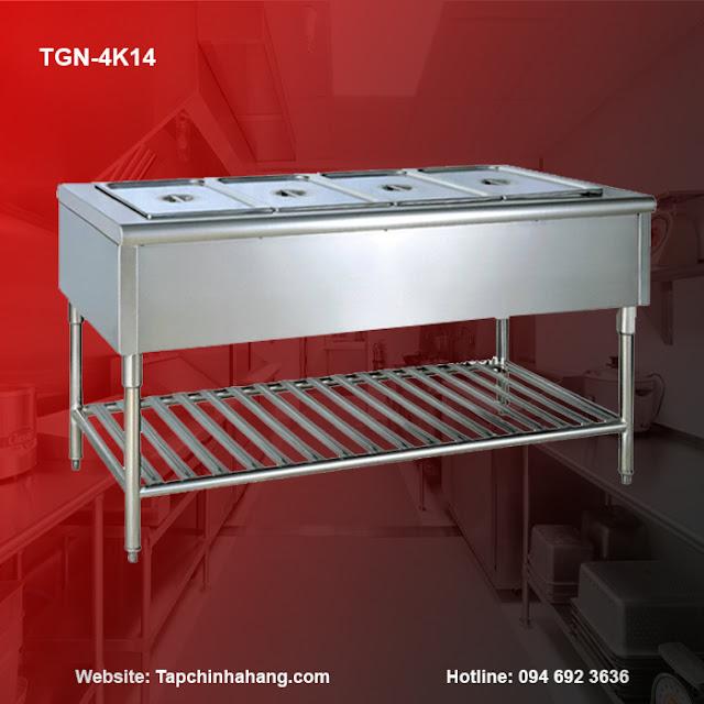 Bàn giữ nóng 4 khay TGN-4K14