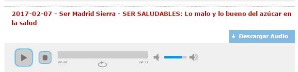 http://www.lavozdelasierra.es/audios/20170207-SER-SALUDABLES--Lo-malo-y-lo-bueno-del-azucar-en-la-salud.mp3