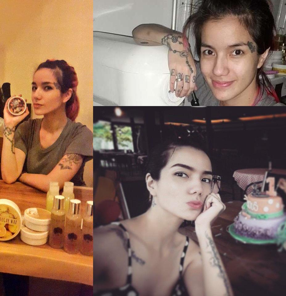 Foto Profil Sheila Marcia Artis Cantik Indonesia Dengan Tato Keren Miliknya