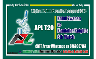 Today Match Prediction Kabul vs Kandhar 8th APL T20 Match