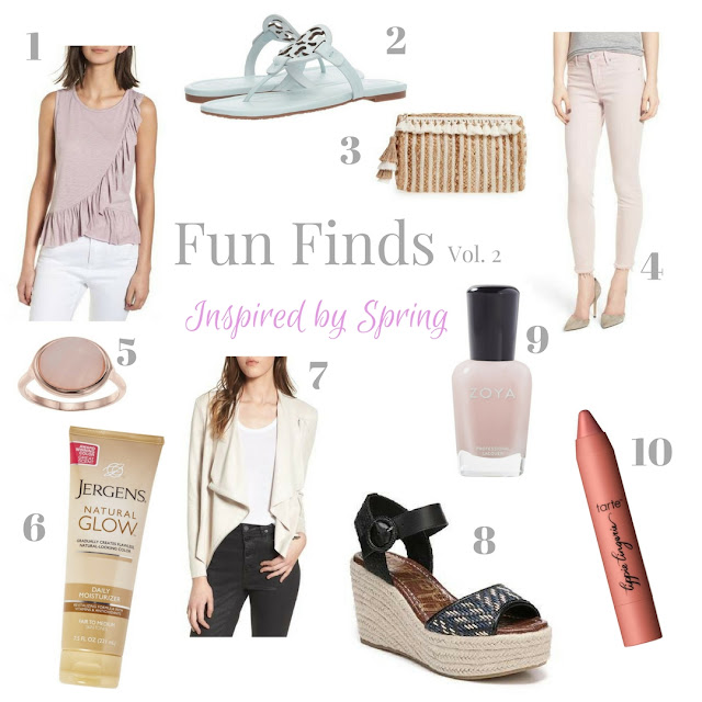 These fun finds, inspired by spring trends, are great additions to your wardrobe.  From shoes to clothing to accessories, these pretty items are perfect for spring.  | www.livingyoungandhealthy.com