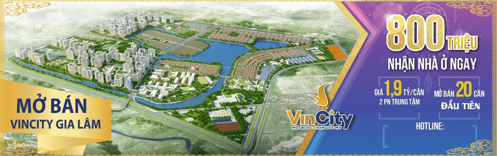 Khu đô thị Bất động sản Vincity Gia Lâm